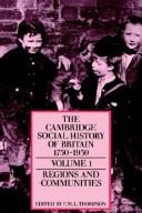 Cover of: The Cambridge Social History of Britain, 17501950 |