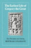 Cover of: The Earliest Life of Gregory the Great