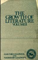 Cover of: The growth of literature