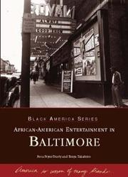Cover of: African-American  Entertainment  in  Baltimore   (MD)  (Black  America) | Tonya Taliaferro