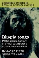 Cover of: Tikopia songs