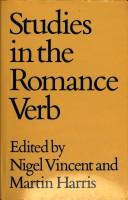 Cover of: Studies in the Romance Verb | Nigel Vincent