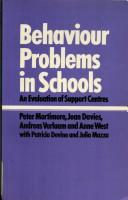 Cover of: Behaviour Problems in Schools | Peter Mortimore