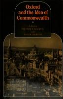Cover of: Oxford and the Idea of Commonwealth