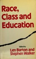 Cover of: Race, Class, and Education