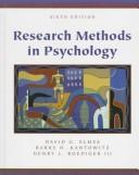 Cover of: Research Methods in Psychology With Infotrac | David G. Elmes
