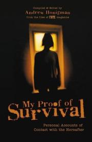 Cover of: My Proof Of Survival