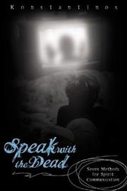 Cover of: Speak With The Dead