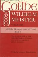 Cover of: Wilhelm Meister