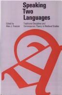 Cover of: Speaking two languages |