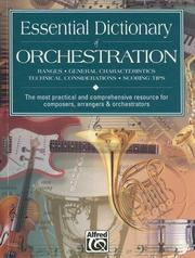 Cover of: Essential dictionary of orchestration