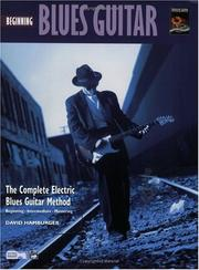 Cover of: Beginning Blues Guitar (Book & DVD) (Complete Blues Guitar Method) | David Hamburger