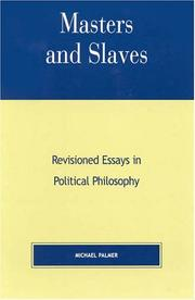 Cover of: Masters and Slaves