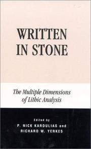 Cover of: Written in Stone