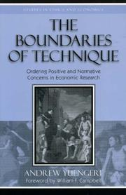Cover of: The Boundaries of Technique | Andrew Yuengert