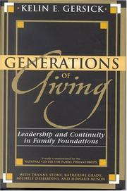 Cover of: Generations of Giving