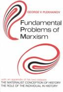 Cover of: Fundamental problems of Marxism