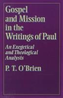 Cover of: Gospel and mission in the writings of Paul