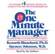 Cover of: One Minute Manager