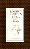 Cover of: Robert Lowell's Poems: A Selection