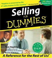 Cover of: Selling For Dummies CD 2nd Edition (For Dummies) | Tom Hopkins