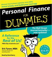 Cover of: Personal Finance For Dummies CD 5th Edition (For Dummies