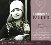 Cover of: Essential Parker CD: Includes Big Blonde; Mrs. Post Enlarges on Etiquette; Horsie