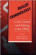 Cover of: Realist criminology