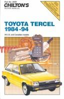 Cover of: Toyota Tercel, 1984-94 ((Total Car Care Ser.)) | John Harold Haynes