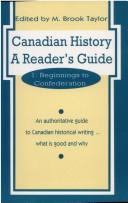 Cover of: Canadian History: a Reader's Guide: Volume 1