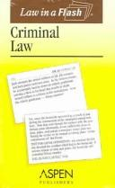 Cover of: Criminal Law (Law in a Flash)