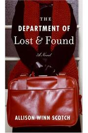 Cover of: The Department of Lost & Found | Allison Winn Scotch