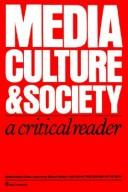 Cover of: Media, culture, and society |