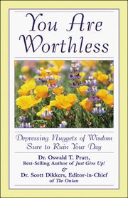 Cover of: You are worthless