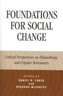 Cover of: Foundations for Social Change