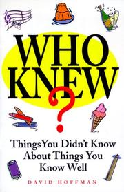 Cover of: Who knew?