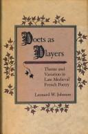 Cover of: Poets as players | Johnson, Leonard W.