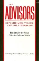 Cover of: The Advisors | Herbert York
