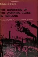 Cover of: The Condition of the Working Class in England | Friedrich Engels
