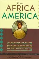 Cover of: From Africa to America