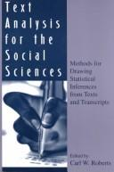Cover of: Text Analysis for the Social Sciences