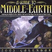 A Guide to Middle-Earth 2003 Block Calendar