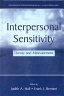 Cover of: Interpersonal sensitivity |