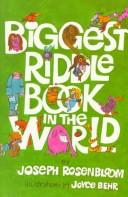 Cover of: Biggest riddle book in the world