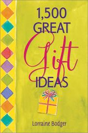 Cover of: 1,500 Great Gift Ideas