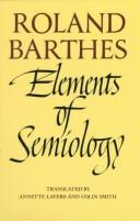 Cover of: Elements of semiology