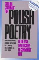 Cover of: Polish poetry of the last two decades of communist rule