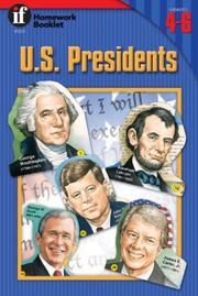 Cover of: U.S. Presidents Homework Booklet, Grades 4-6