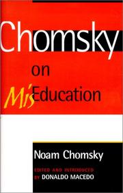 Cover of: Chomsky on Mis-Education