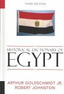 Cover of: Historical Dictionary of Egypt (African Historical Dictionaries/Historical Dictionaries of Africa)